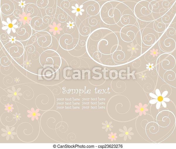 Wedding card - csp23623276
