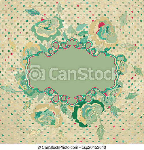 Wedding card or invitation background. EPS 8 - csp20453840