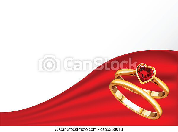 wedding card with gold rings Wedding card with gold rings