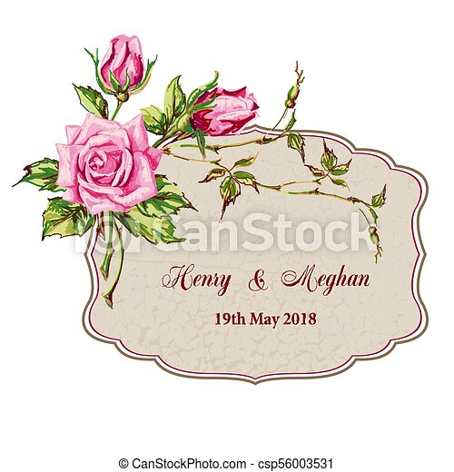 wedding card with roses invitation card with flowers for your