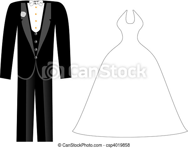 Wedding Clothes - csp4019858