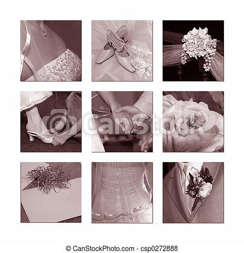 Wedding Collage - csp0272888