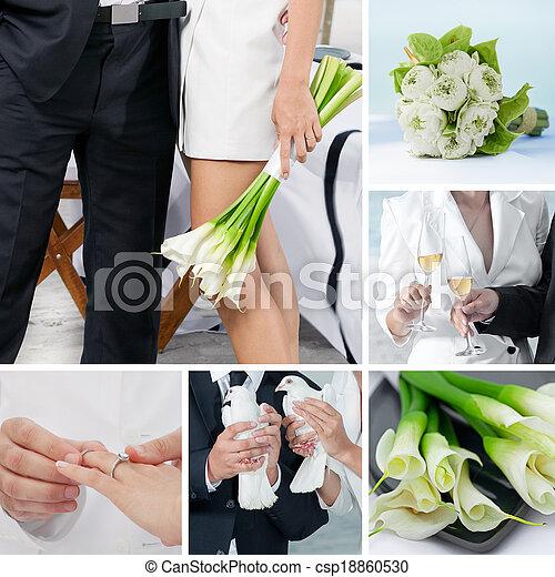 wedding collage - csp18860530