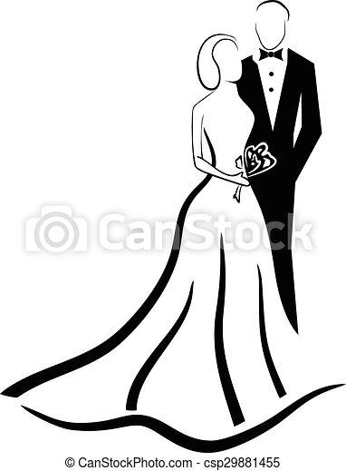 wedding couple vector eps 10 rh canstockphoto com wedding couple clipart free wedding couple clip art free