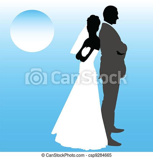 wedding couple - csp9284665