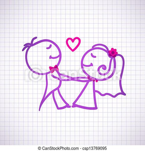 wedding couple - csp13769095