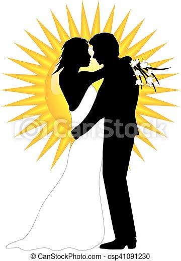 wedding couple - csp41091230
