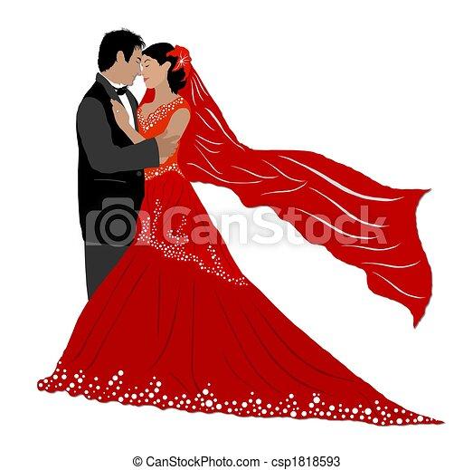 wedding couple isolated rh canstockphoto com wedding couple clipart free download wedding couple clipart free download
