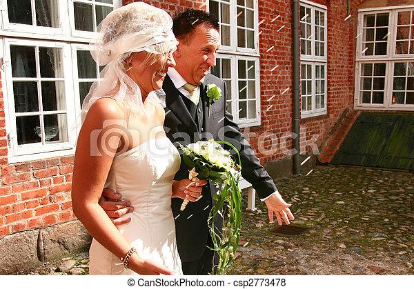 Wedding couple rice - csp2773478