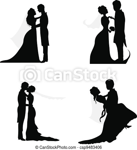 Wedding Couple Silhouettes Wedding Couple Silhouettes For Wedding
