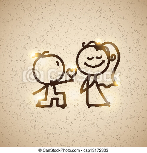 wedding couple, vector eps 10 - csp13172383