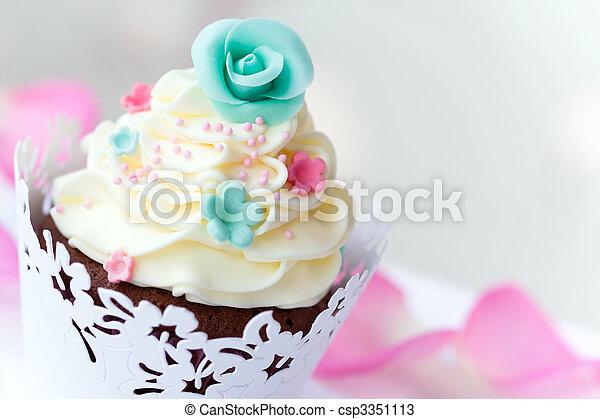 Wedding cupcake - csp3351113