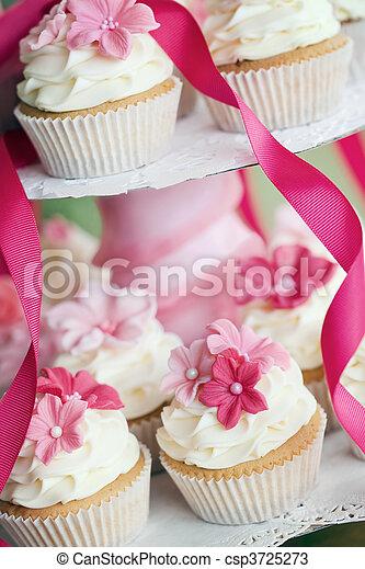 Wedding cupcakes - csp3725273