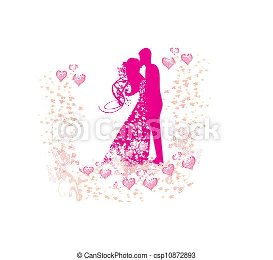 wedding dancing couple background  - csp10872893