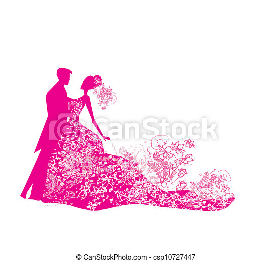 wedding dancing couple background  - csp10727447