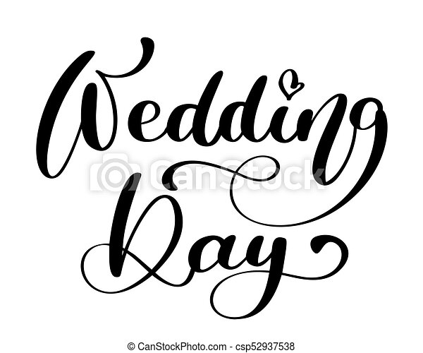 wedding day vector text on white background calligraphy vectors rh canstockphoto com wedding vector images wedding vector images