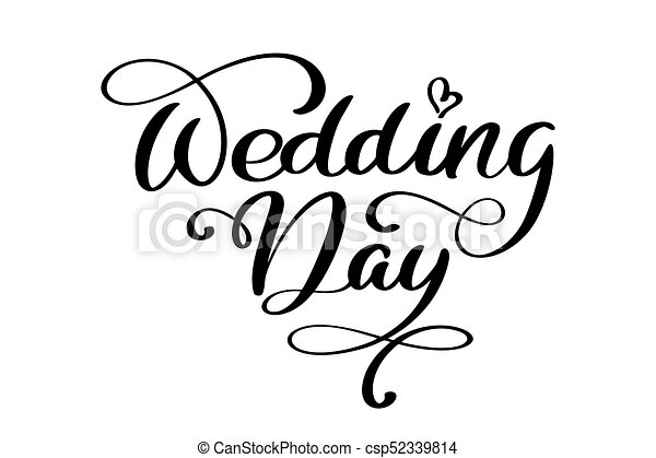 Wedding day vector text on white background calligraphy lettering wedding day vector text on white background calligraphy lettering illustration junglespirit Images