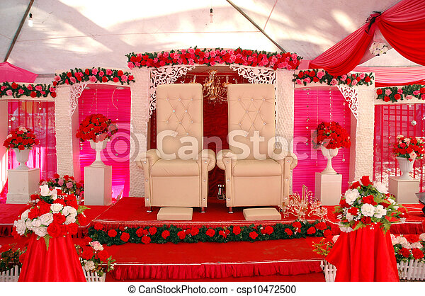 Wedding decorations on a traditional malay wedding stock wedding decorations stock photo junglespirit Gallery
