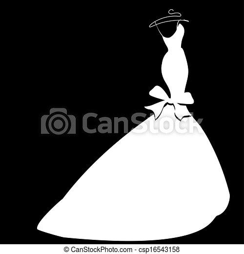 Wedding dress Wedding dress vector