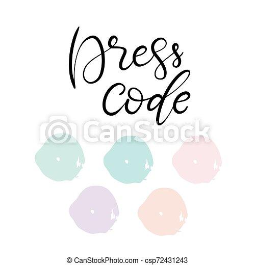 Wedding Dress Code Color Palette