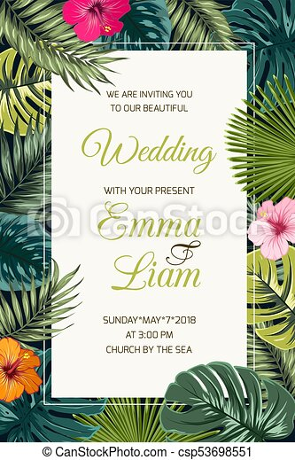 Wedding Event Invitation Card Template