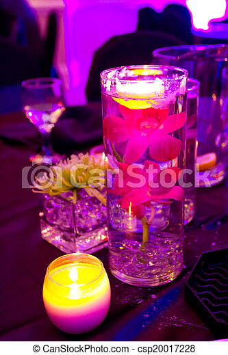 Wedding Flowers and Decor at Reception - csp20017228