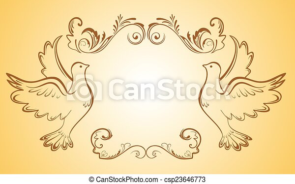 Wedding frame - csp23646773