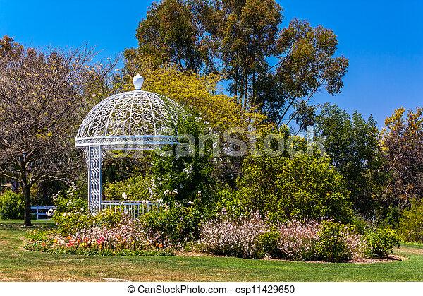 Wedding Gazebo Atsouth Coast Botanic Garden Stock Photo