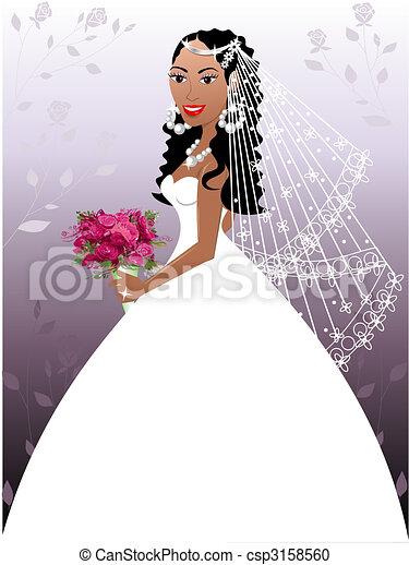 Wedding Gown 2 - csp3158560