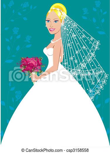 Wedding Gown 3 - csp3158558