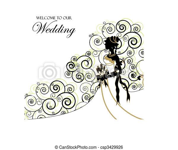 Wedding Graphic; Use as Invitation or Photo Album Cover - csp3429926