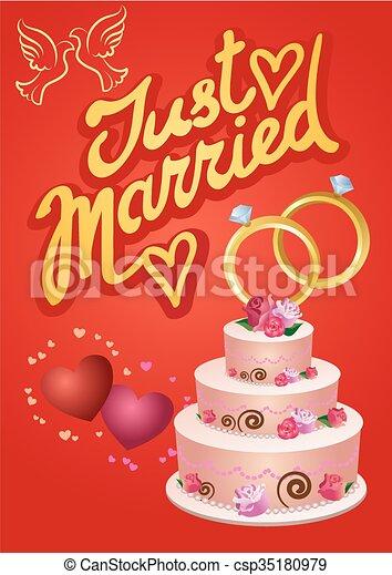 Wedding greetings card vectors illustration search clipart wedding greetings card csp35180979 m4hsunfo