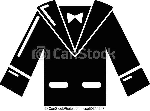 Wedding groom suit icon , simple style
