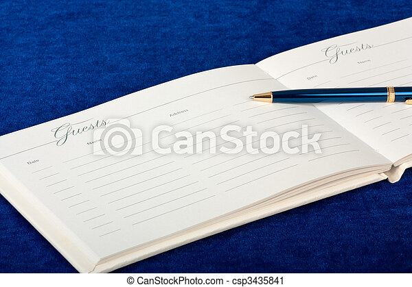 Wedding Guest Book - csp3435841