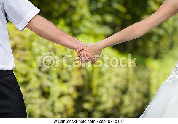 wedding hands - csp10718137