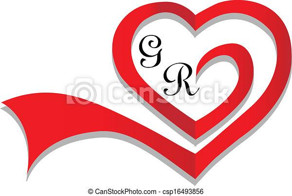 Wedding heart card invitation logo clipart vector search wedding heart card invitation csp16493856 stopboris Images