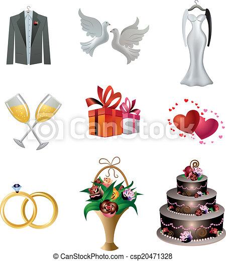 wedding icon set - csp20471328