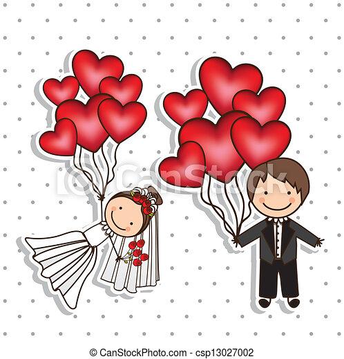 Wedding Icons - csp13027002