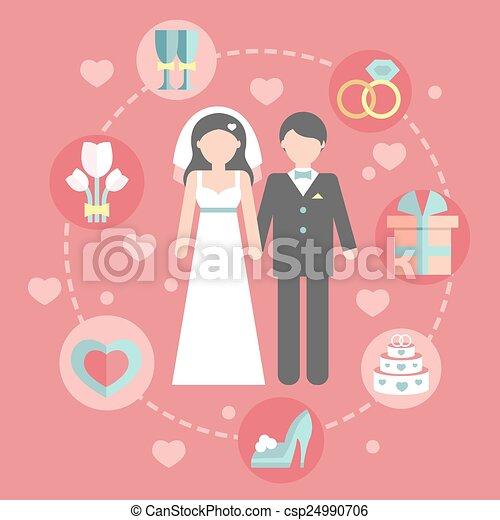 wedding cartoon pictures templates