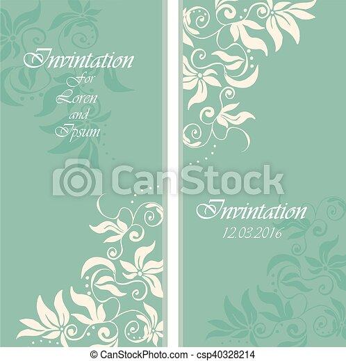 wedding invintation or party invinatation card - csp40328214