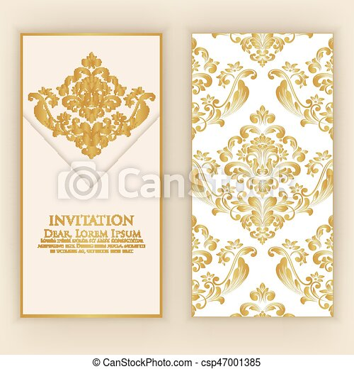 Wedding Invitation And Announcement Card With Vintage Background
