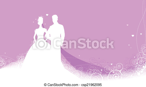 Wedding invitations with pictures in background