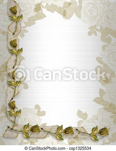 Wedding Invitation Border  - csp1325534