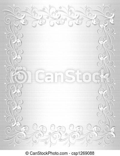 Wedding Invitation Border White  - csp1269088