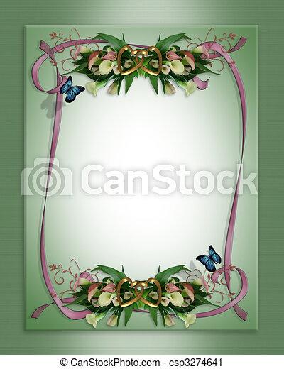 Wedding invitation call lily - csp3274641