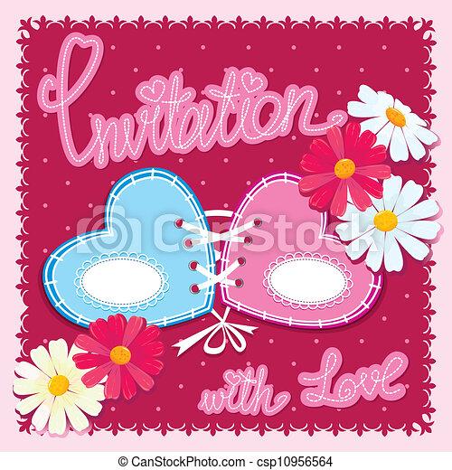 Wedding invitation card - csp10956564