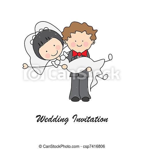 Wedding invitation card - csp7416806