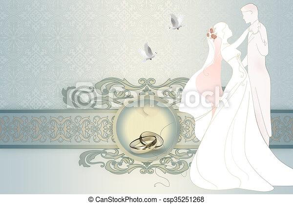 Wedding invitation card design decorative and elegant wedding wedding invitation card design csp35251268 stopboris Image collections