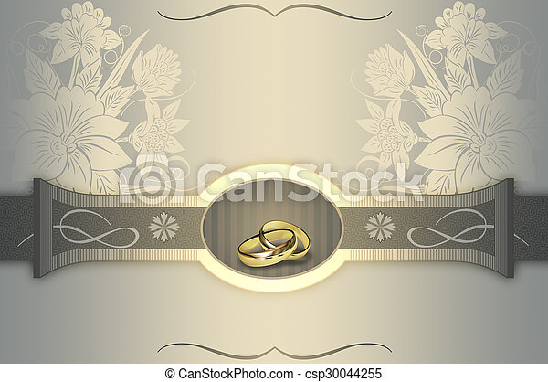 Wedding invitation card design elegant floral background with wedding invitation card design csp30044255 stopboris Image collections