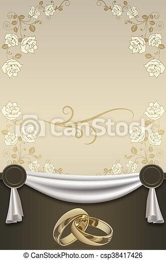 Wedding invitation card design decorative wedding stock photo wedding invitation card design csp38417426 stopboris Images